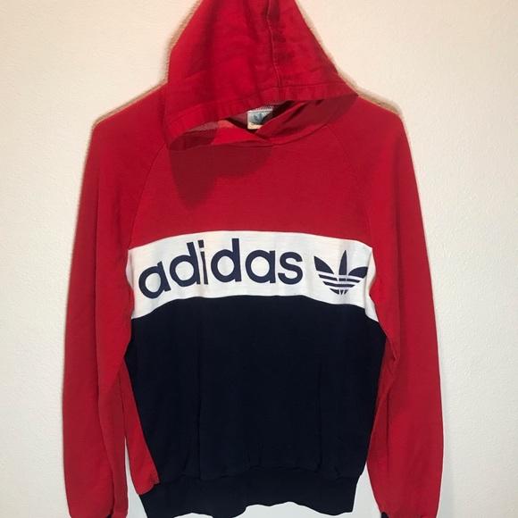 80s adidas hoodie